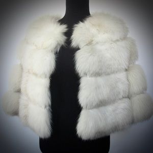 Luxury VTG Norweigan Fox Fur Bolero / Wedding Fur